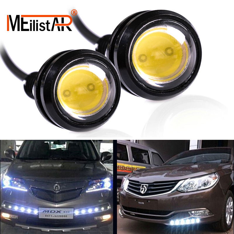 1Piece 18mm Waterproof Eagle Eye LED DRL Daytime Running Light Car styling Lights Brake Backup Reversing Parking Signal Lamp cyan soil bay 2pcs white 12 4014 smd led eagle eye motorcycle car parking fog backup light drl lamp 23mm