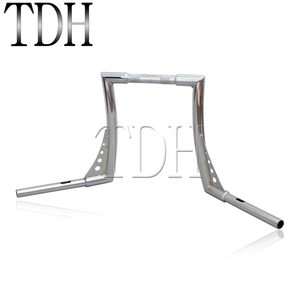 "Image 5 - Chrome Custom Motorcycle Handlebar Ape Hanger 1 1/4"" Fat Bar 12"" Rise 30 1/2"" Wide Drag Bars for Harley Sportster Touring Dyna"