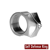 GWFEYE Tungsten Steel Self Defense Supplies Self Defense Ring Women Men Safety Survival Finger Ring With