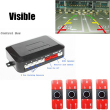 16mm Original Flat Sensors Car parking Sensor Dual Core Video system Image radar For ALL Car Can Connect DVD Monitor Rear Camera