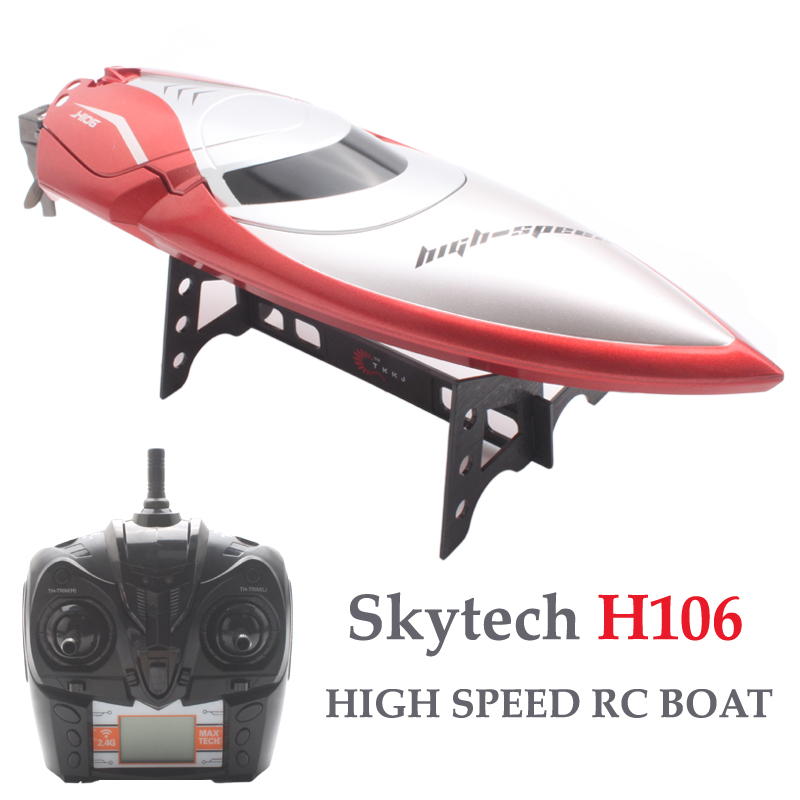 Skytech H106 RC Boats 180 Degree Flip High Speed Remote Control Electric Ship 4CH Racing Speedboat barco Rc Toys For Children