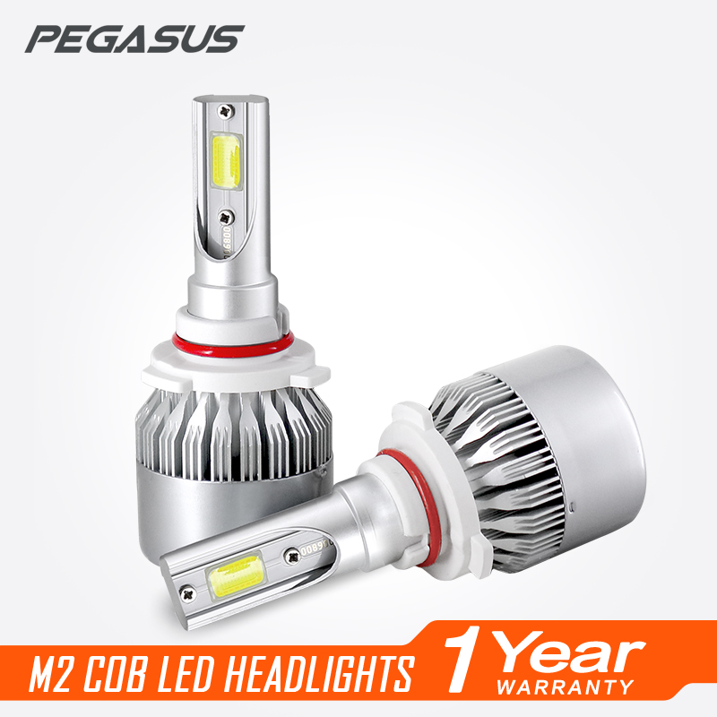 PEGASUS Car Headlight H1 H3 H4 H7 H11 HB3 9005 HB4 9006 HB1 9004 HB5 9007 HIR2 9012 H13 LED 6000K Auto Bulb Headlamp car led headlight kit led with fan h1 h3 h4 h7 h8 h9 h10 h11 h13 9005 hb3 9006 9004 9007 9005 hi lo for car hyundai toyota