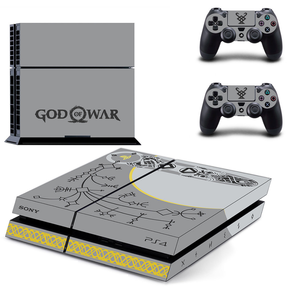 Game God of War 4 PS4 Skin Sticker Decal for Sony PlayStation 4 Console and 2 controller skins PS4 Stickers Vinyl Accessory