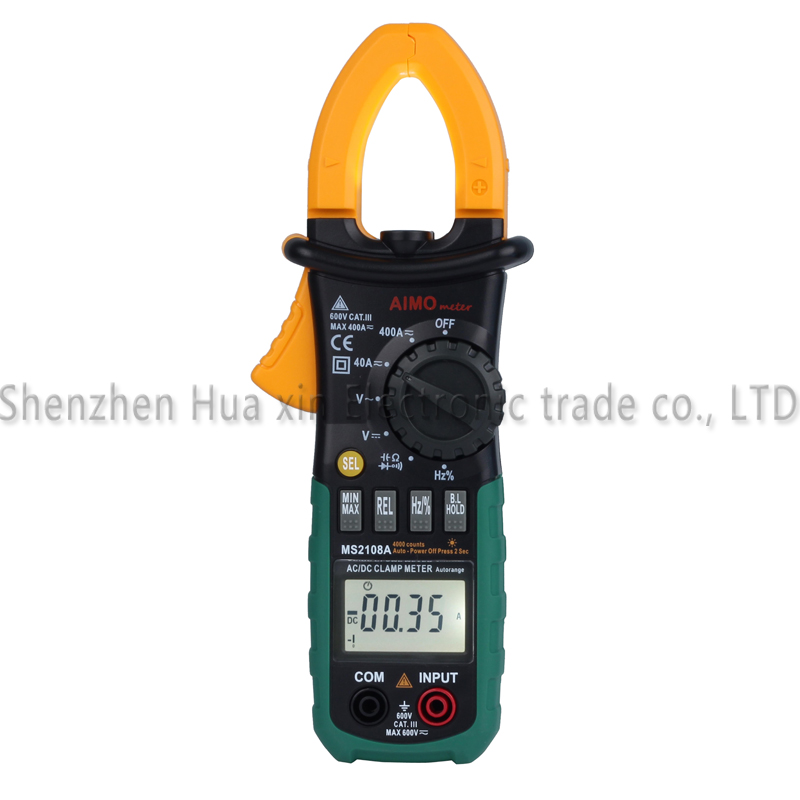 Digital Multimeter Amper Clamp Meter MS2108A Current Clamp Pincers AC/DC Current Voltage Capacitor Resistance Tester ms2108a digital clamp meter amper multimeter current clamp pincers ac dc current voltage capacitor resistance tester