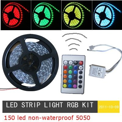 Led strip light rgb5050 smd 5m 150 led rgb led strip light rgb kit led strip light rgb5050 smd 5m 150 led rgb led strip light rgb kit flexible led strip and controller holiday free in led strips from lights lighting on aloadofball Gallery