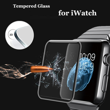 New 3D 9H Full cover Tempered Glass full Screen protector For Apple iWatch screen for iwatch Protective film 38cm 42cm