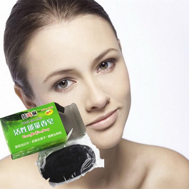 Tourmali Produkte 60g Attraktive Mode Schönheit & Gesundheit Dropshipping 1 Teile/schachtel Aktive Energie Bambus Seife Für Ance Gesicht & Körper Beauty Gesunde Pflege