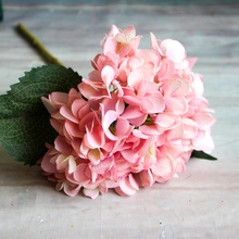 hot deal buy artificial faux floral flowers plants dried  flowers artificial flowers branch wedding party hydrangea bouquet single silk cloth