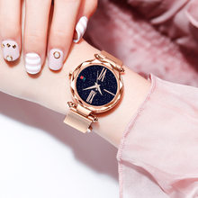 Fashion Women Watches Magnet Buckle 4 Colors Lady Wristwatch Fashion Starry Sky Black Rose Gold Ulzzang Brand Girls Gift Clock(China)