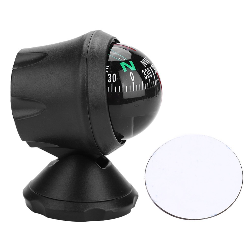 Black Electronic Marine Compass for Boat Vehicle Night Vision Ball Compass Boat Compass