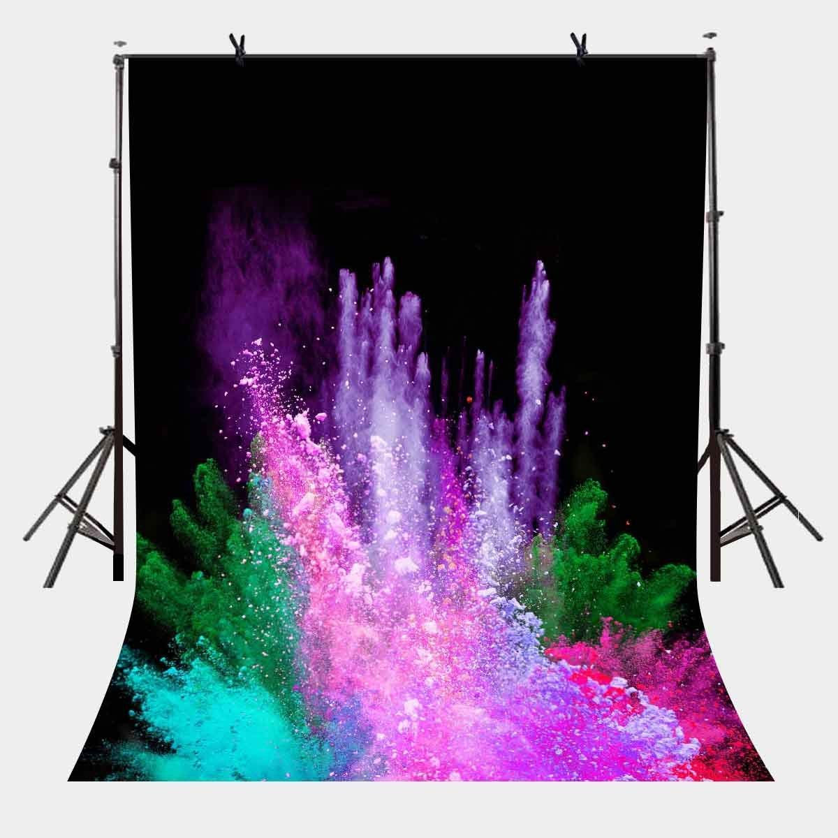 5x7ft Brilliant Fireworks Backdrop Colorful Photography Background and Studio Props