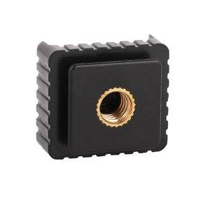 Image 2 - Kaliou U Type 1/4 screw Single Hot Shoe Mount Adapter Flash Light Stand Flash Base Holder Triple Hot Shoe Mount Converter