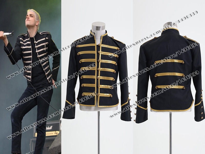 My Chemical Romance Cosplay Costume Parade Military Golden Stripes Black Jacket Well Made Fast Shipping on Aliexpress.com   Alibaba Group  sc 1 st  AliExpress.com & My Chemical Romance Cosplay Costume Parade Military Golden Stripes ...