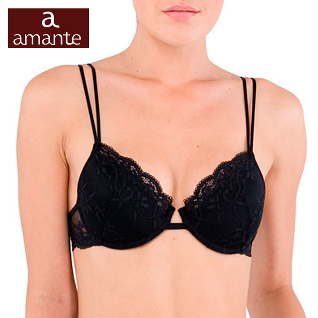 Woman's Bra Lace Black Push Up Cup Cotton Lining Large Size Big Support 70 75 80 A B C D E ARDI Amante Free Delivery N2021-03