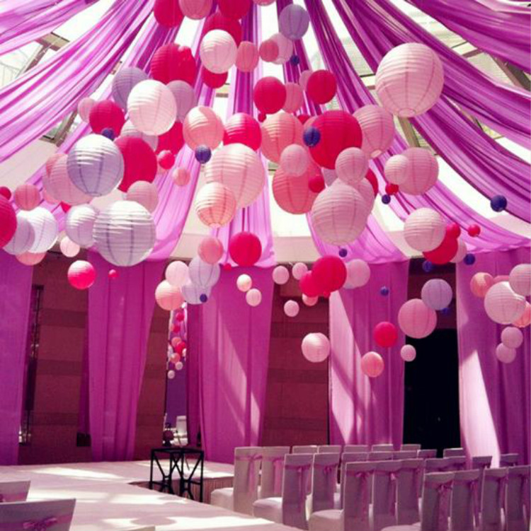 Paper Lanterns Wedding Decoration Ideas: Free Shipping 8''(20cm) Pink Chinese Paper Lanterns Home