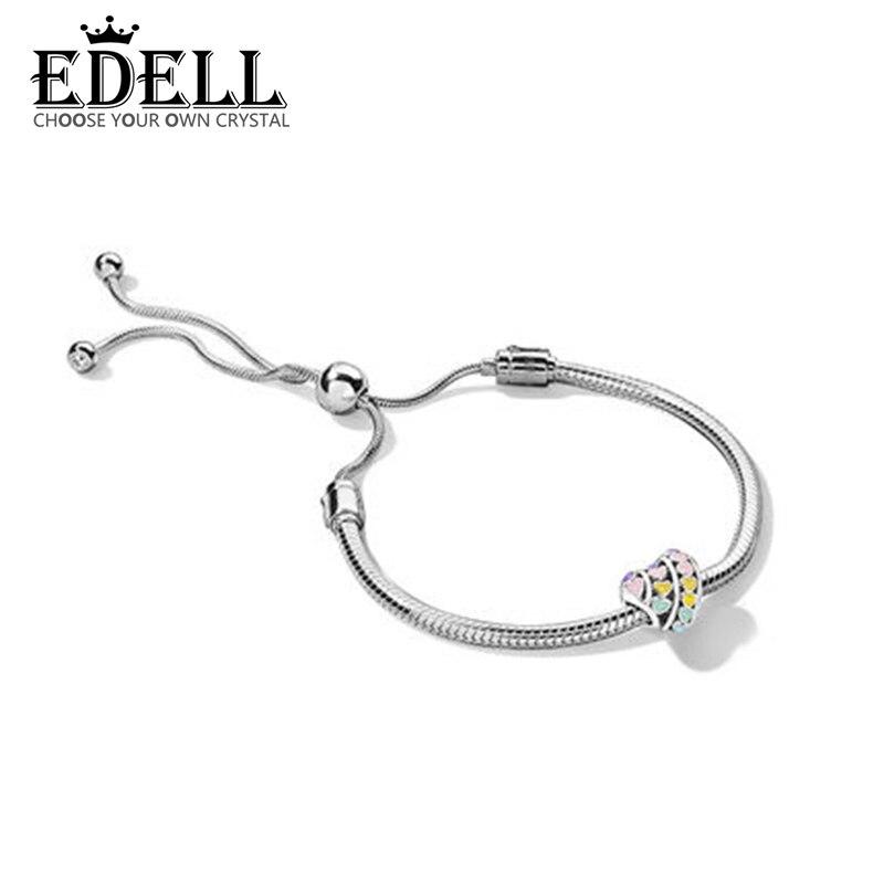 Edell 100% 925 Новый 1:1 Glamorous темперамент Радуга браслет комплект DIY праздничные подарки подарок на день рождения