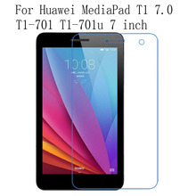 Tablet PC Protective Film For Huawei MediaPad T1 7.0 T1-701 T1-701u 7 inch LCD Screen Protector Ultra Slim HD Film 2Pcs 9h 7 screen protector for huawei mediapad t1 7 0 t1 701u tempered glass for huawei t1 7 0 701u 7 inch protective film