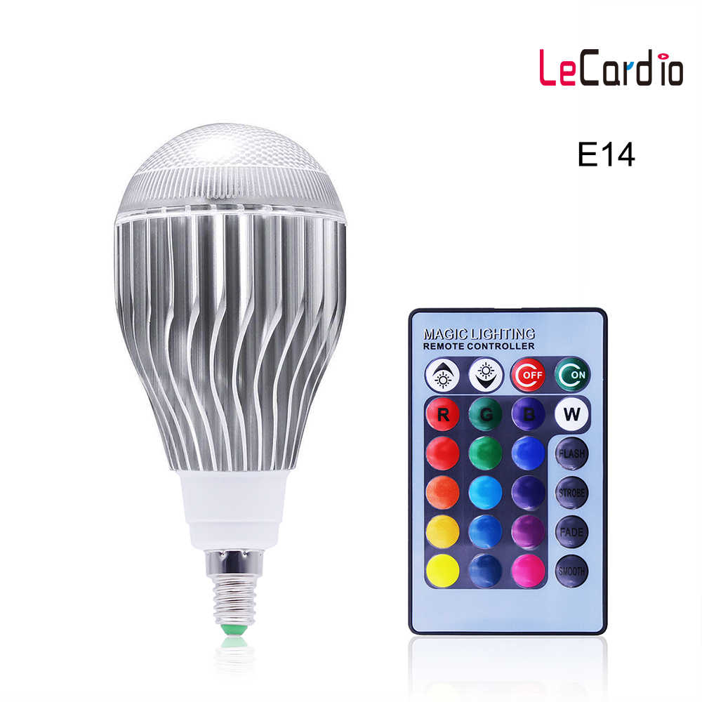 E14 RGB Led Bulb 10W 16 Color Changing Magic Led Night Light Bulb Party Lamp Dimmable Stage Light 85-265V Sopt light/RC