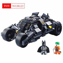 Super Heros Batman Race Truck Car Model Technic Building Block SetS DIY Toys Compatible With LegoINGly Batman for children GH25(China)