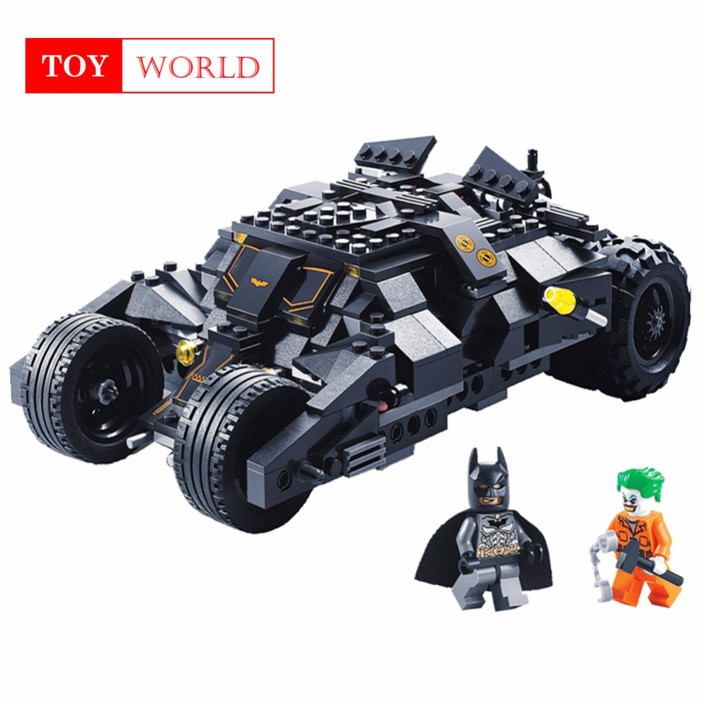 Super Heros Batman Race Truck coche modelo Technic Building Block SetS DIY juguetes Compatible con LegoINGly Batman para niños GH25