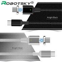 Магнитный 5А PD кабель USB C к USB C Тип C кабель Быстрая зарядка данных зарядное устройство между мужчинами для MacBook Pro для samsung для Google