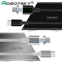 Câble magnétique 5A PD USB C à USB C câble de Type C chargeur de données de charge rapide mâle à mâle pour MacBook Pro pour Samsung pour Google