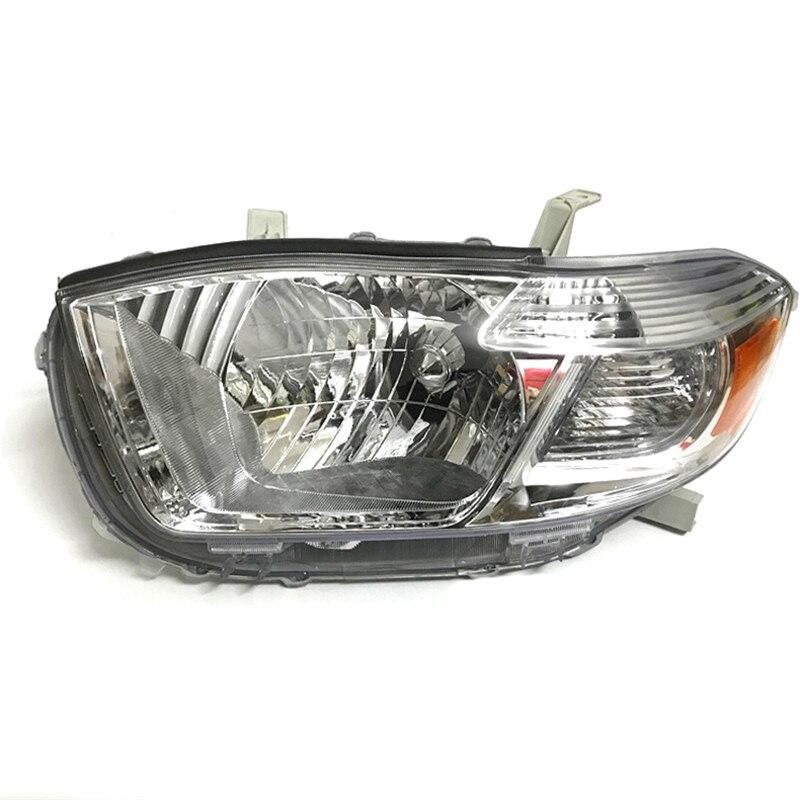 Ownsun Оригинальные Замена Chorme Корпус галогенные Фары для автомобиля для Toyota Highlander 2009-2012