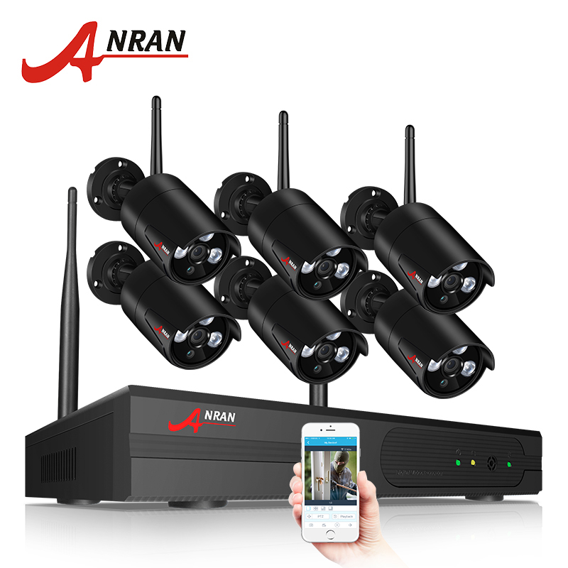 ANRAN Cámara sistema de seguridad inalámbrico 8CH 1080 P NVR Kit HD cámara IP al aire libre SISTEMA DE CCTV de la visión nocturna de la cámara de vigilancia. sistema de
