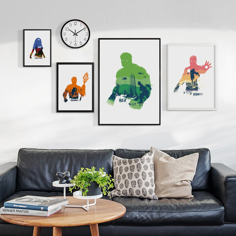 Bianche Wall Marvel Movie Comics Superhero Werewolf Captain Spiderman A4 Canvas Painting Art Print Poster Picture Home Decor