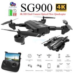 SG900 Pieghevole Profissional Drone con la Macchina Fotografica Doppia 720 P 4 K Selfie WiFi FPV Ampio Angolo di Flusso Ottico RC Quadcopter giocattoli elicottero