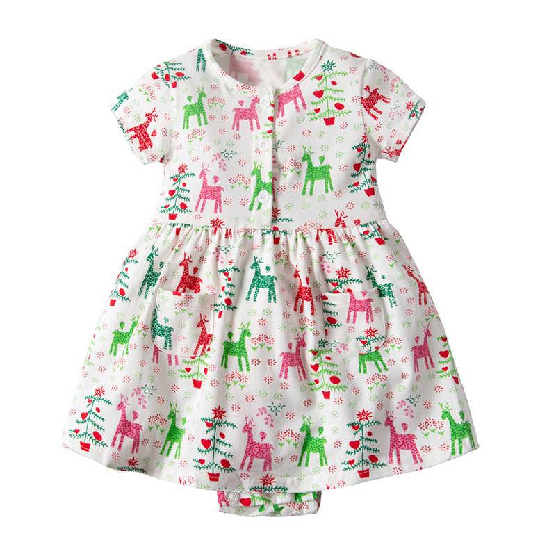 Милые для детей и малышей, для маленьких девочек короткий рукав платье с цветочным рисунком для принцессы платья-комбинезоны принт фрукт, ананас одежды; комбинезон; одежда для детей