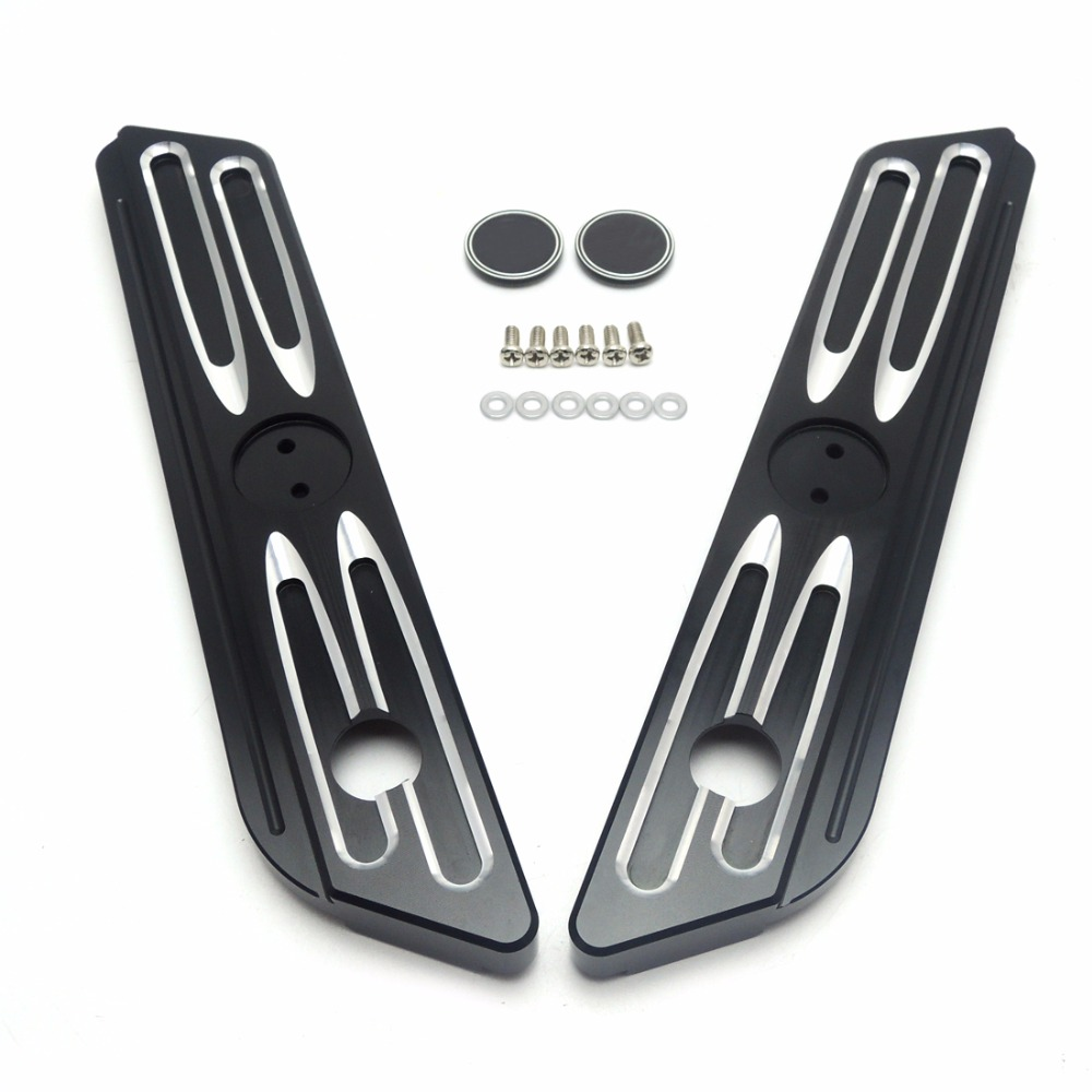 Burst Drive Cut Saddlebag Latch Covers for Street Glide Road King Electra Glide 2014 2015 2016 billet saddlebag latch covers w screws for harley electra street tour glide classic fltc road king hard bags 93 13