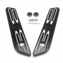 Burst Drive Cut Saddlebag Latch Covers for Street Glide Road King Electra Glide 2014 2015 2016