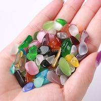 Natural Agate Stone 300g Colored Decorative Stones Onyx Mosaic Marbles For Vase Fish Tank Aquarium Decoration