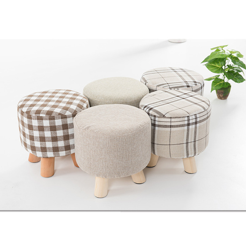Ordinaire Small Wooden Foot Stools Modern Furniture Round Fabric Sofa Stool Footstool  Detachable Fabric Changing Shoes Stool CSY0736 In Stools U0026 Ottomans From ...