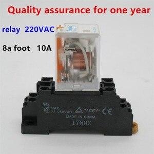 Высококачественное реле HH52P MY2NJ, 220 В, катушка переменного тока, реле питания, универсальное, DPDT, микро-мини-реле, электромагнитное реле + Осно...