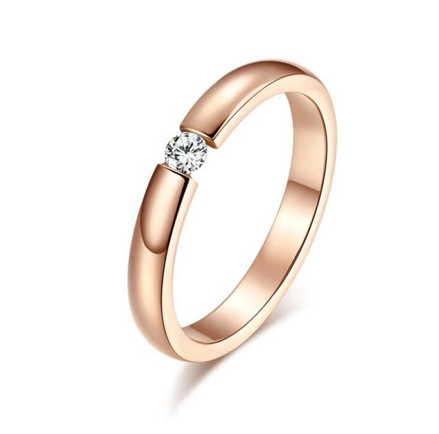 Stainless Steel Ring Lover Rose Gold Ring Wedding Carter Jewelry