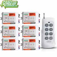 JD211A1N6 と 6 受信機 6 チャンネル RF ワイヤレスリモートコントロールスイッチ 220 V 110 V 6 to15 個受信機 1 トランスミッタ