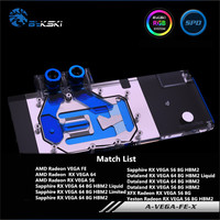 Bykski Full Cover GPU Water Block For AMD Radeon Vega 56/64 Founder Edition For Sapphire XFX Dataland Graphics Card