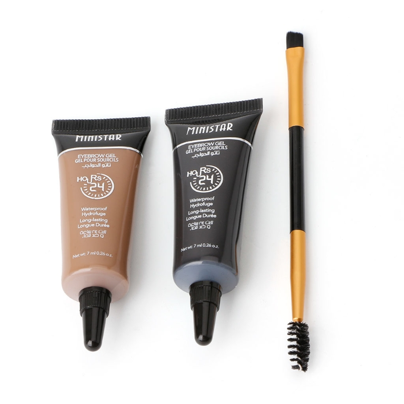 2pc Waterproof Tint Eyebrow Henna With font b Mascara b font Eyebrows Paint Brush Beauty Tool