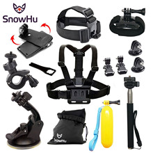 SnowHu for Gopro Accessories Set Floating Hand Grip For 7 6 5 5S 4 3+ 2 Sj4000 sj7000 xiaomi yi Black Edition GS01