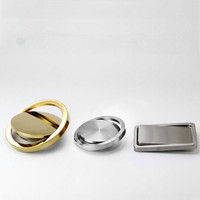 Stainless Round decorative cover Steel Flush Recessed Built in Balance Flap Lid Cover Trash Bin Garbage Can Kitchen Counter