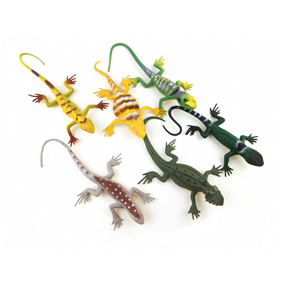 12Pcs//Lot Simulation Lizards Plastic Forest Wild Animal Model Figures Collection