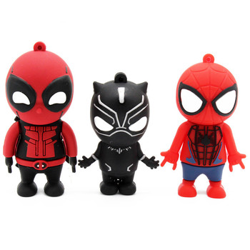 New style Black panther Spiderman usb flash drive USB Flash Drives