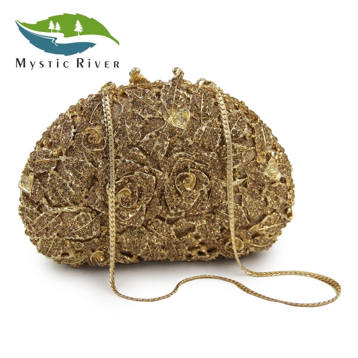 Mystic River Partido de Las Mujeres Embragues Bolsas de Flores de Calidad Superi