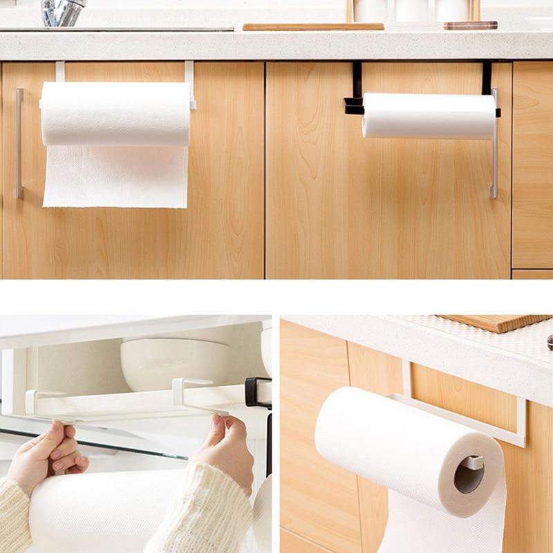 Image 4 - Joyathome Cabinet Thicken Hook Type Paper Holder Tissue Rack Creative Shelf Towel Rack Kitchen Storage Rack Shelves for Kitchen-in Storage Holders & Racks from Home & Garden
