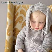 2016 Ins Fashion Kids Baby 3d Cartoon Rabbit Ear Wool Knitted Sweater Cardigan Coat Infant Bebes