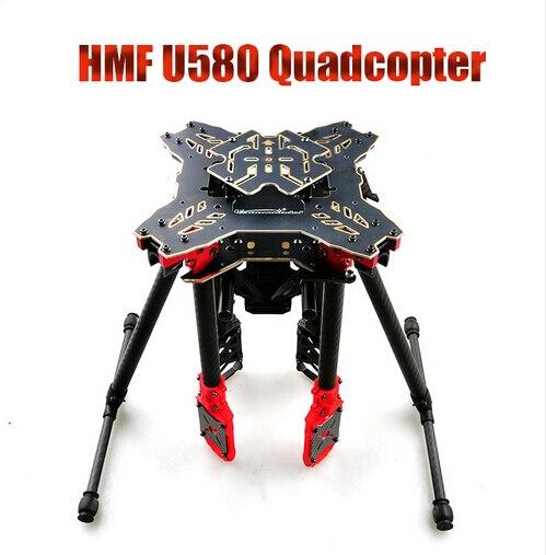 JMT HMF U580 Totem Série RC Quadcopter Cadre 4 Axe pliable Porte-Carbone Parapluie Drone FPV Train D'atterrissage Cardan Montage Tube