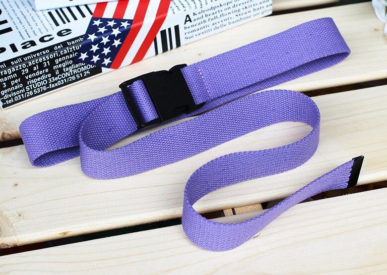 Женский ремень Харадзюку, красный, с буквенным принтом, модный, унисекс, двойное d-образное кольцо, Холщовый ремень, женские длинные ремни для джинсов - Цвет: Style 2 Purple