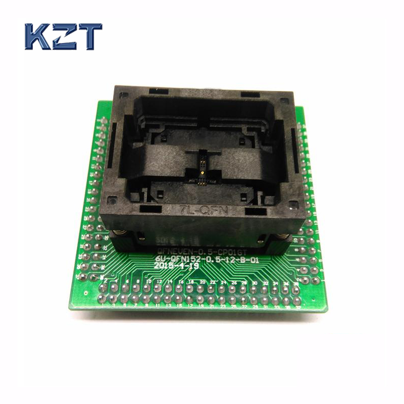 QFN socket IC Test Adapter Pitch 0.5mm IC550-0324-007-G Programming Socket Size 5*5 Flash Adapter QFN32 MLF32 Burn in Socket qfp176 tqfp176 lqfp176 burn in socket pitch 0 5mm ic body size 24x24mm otq 176 0 5 06 test socket adapter